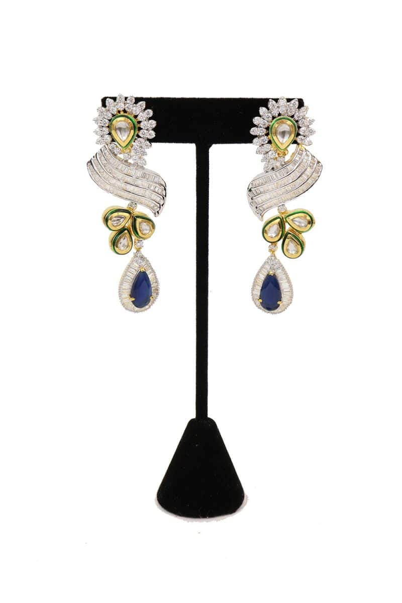Kundan & American Diamond Studded Earring - E61